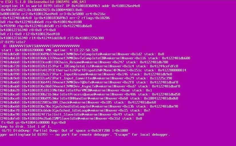 Падает esxi при копирование в гостевой машине Windows 2012 R2