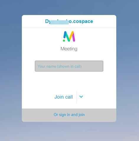 форма подключения к конференции cisco meeting веб-клиентом