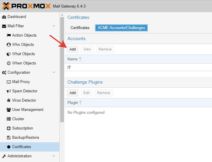 Установка сертификата SSL в Proxmox Mail Gateway